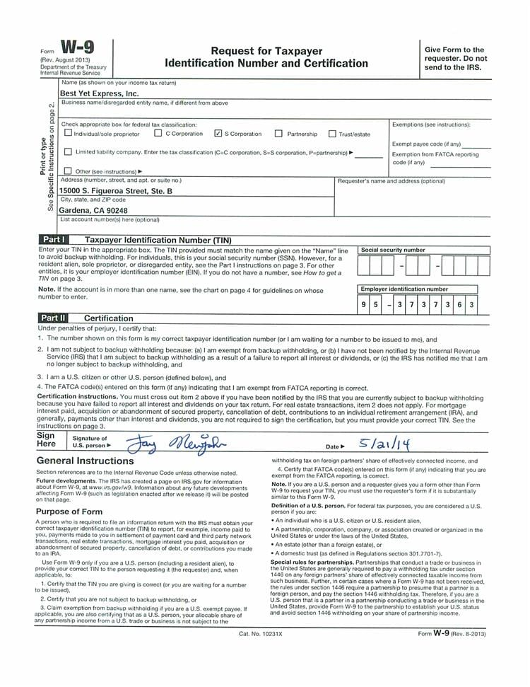 W9 Tax Form 2015 Printable Dolapgnetband